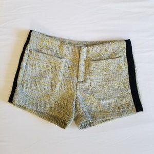 RACHEL Rachel Roy Yellow Tweed Shorts 0